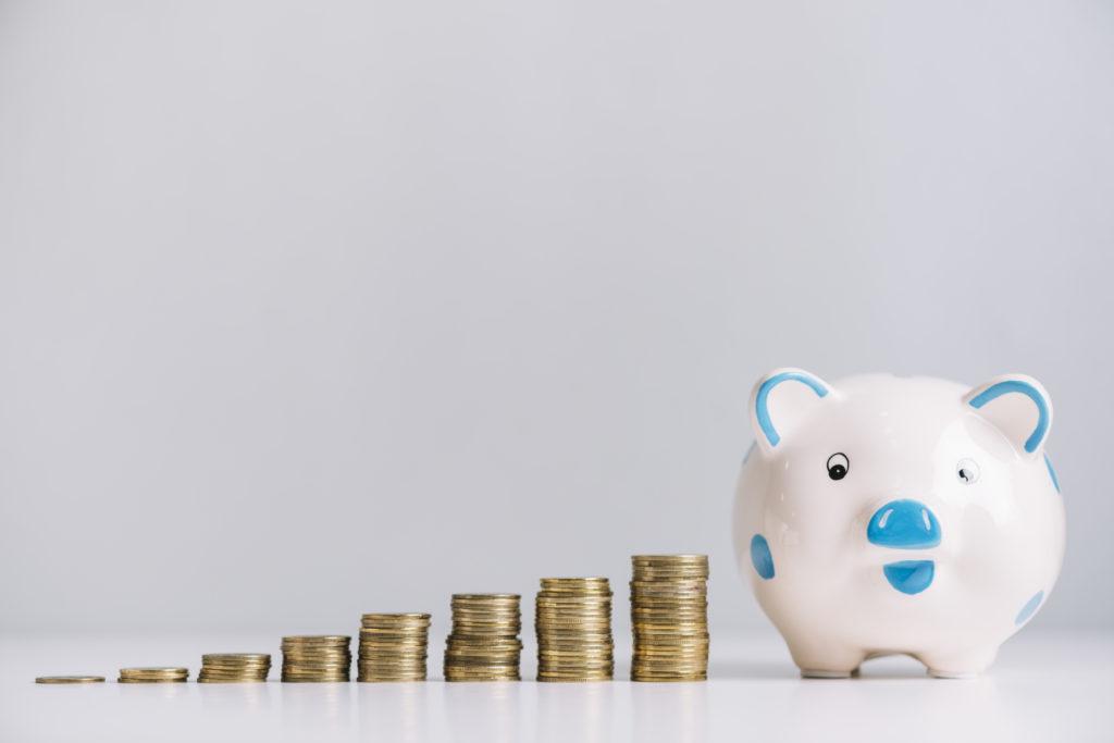 Sparschwein mit immer mehr Geld