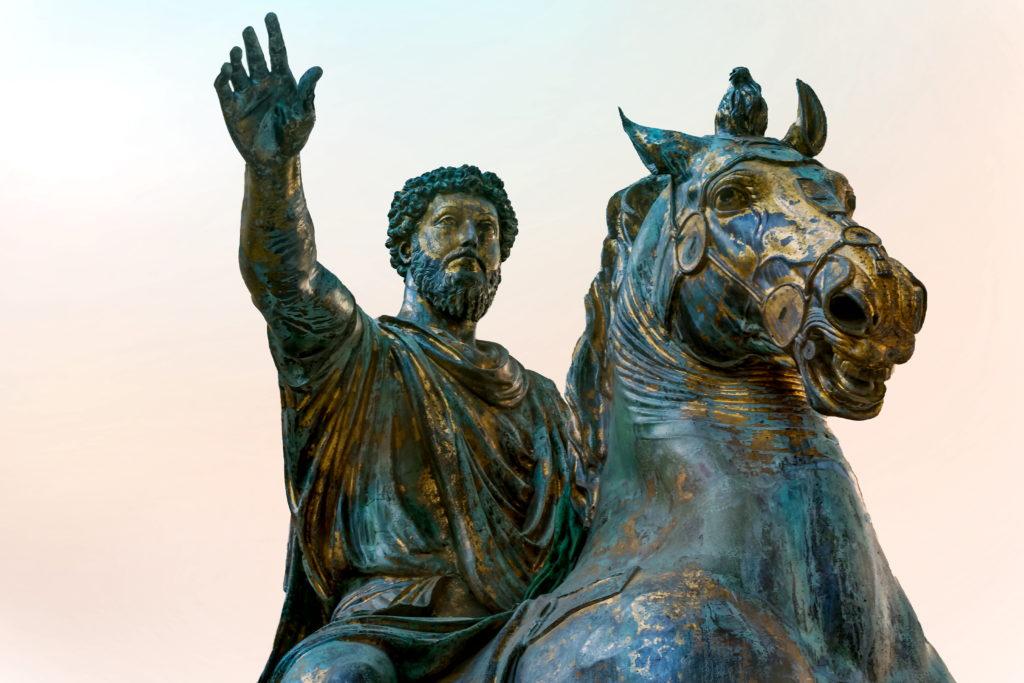 Statur von Mark Aurel, einer der Wegbereiter der Stoiker
