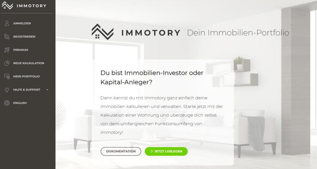 Screenshot Immotory.com