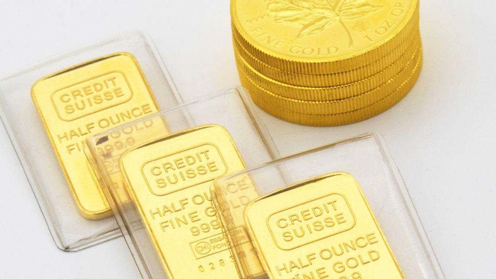 Verschiedene Goldformen